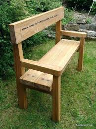 Full Image For Rustic Oak Garden Bench With Back And Arms Handmade From Bespoke