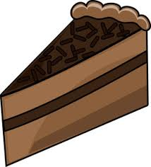 Chocolate clipart piece chocolate cake 1