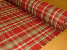 Material For Curtains Uk by Elgin Red Wool Effect Washable Thick Tartan Curtain Fabric
