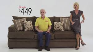 Bobs Furniture Leather Sofa And Loveseat by Miranda Living Room Set Bob U0027s Discount Furniture Youtube