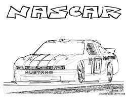 NASCAR Race Car Coloring Page You Can Print Out
