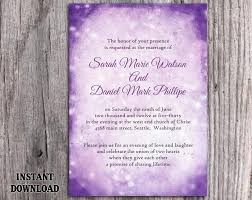 DIY Rustic Wedding Invitation Template Editable Word File Download Printable Purple Lavender