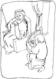 Elegant King Saul Coloring Page 17 In Line Drawings With