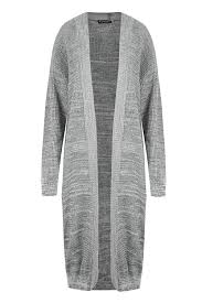 womens longline cardigan ladies chunky knit open full sleeve midi