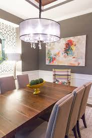 Kansas City Corner Dining Table Room Transitional With Striped Chair Window Cleaners Tall Lamp