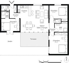 plan maison plain pied gratuit 3 chambres plan maison de plain pied 100 m avec 3 chambres ooreka