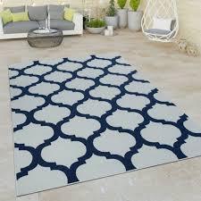 in und outdoor flachgewebe teppich marokkanisches design weiß