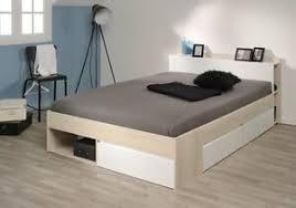 details zu bett stauraumbett einzelliege 140x200 cm schlafzimmer akazie weiss neu