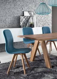 schalenstuhl stuhl esszimmer modern blau eiche massiv hellblau samtig yatego