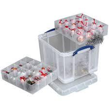 boîte de rangement 35l en plastique avec casiers caisse avec