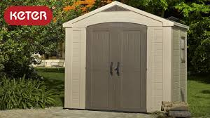 Plastic Storage Sheds Walmart by Keter Factor 8 U0027 X 6 U0027 Resin Storage Shed All Weather Plastic