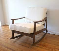 100 Greendale Jumbo Rocking Chair Cushion Cream Wooden Mid Century Modern Rocker Picked