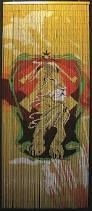Bamboo Bead Curtains For Doorways by Bamboo Doorway Beads Curtain With Rastafari Lion