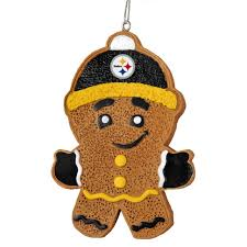 Pittsburgh Steelers Gingerbread Man Christmas Tree Ornament NEW