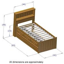 Twin Bed Dimension Cool As Twin Bed With Storage Width Twin