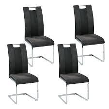 4er set reality schwingstuhl bari in schwarz grau gestell kufe verchromt bezug softtex kunstleder mit griff für küche oder esszimmer