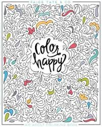 Color Happy An Adult Coloring Book Of Removable Wall Art Prints
