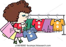 450x318 Clipart Of Freckle Hanger Shopping Bag Holding Clothing Shop