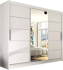 modernes schwebetürenschrank aston vi mit spiegel 250 x 215 x 58 cm kleiderschrank garderobe schlafzimmer schiebetürenschrank