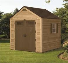 Hybrid Wood and Plastic Storage Shed