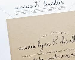 Monica Calligraphy Script Recycled Kraft Wedding Invitation Sample