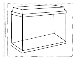 Outline Aquarium Coloring Pages Template 1 Here A Setup Of An Tank Empty