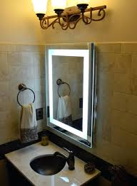 wall mirrors lighted makeup mirror wall mount battery operated