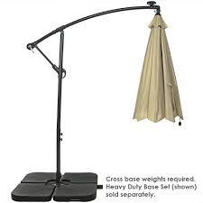 Solar Lighted Rectangular Patio Umbrella by Sunnydaze Steel Offset Solar Patio Umbrella W Cantilever