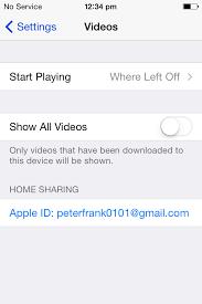 Hide Videos Stored in iCloud Video iPhone