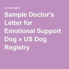 Sample Doctor s Letter for Emotional Support Dog