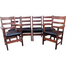 Antique Set Of Six 4 Gustav Stickley And 2 L&jG Stickley Dining ... Sold Country French Carved Oak 1920s Ding Set Table 2 Draw 549 Jacobean Style 8 Pc Room Set Wi Jun 19 Stickley Mission Cherry Collection By Issuu Products Tagged Gustav The Millinery Works Antique Of Six 4 And Ljg A Restored Arts Crafts Bungalow Old House Journal Magazine Of Mahogany Chippendale Style Chairs C 1890 Craftsman On Fiddle Lake Vacation In Ski Amazoncom Michigan Chair Company Hall W1277 Harvey Ellis Nesting Tables Five Fan Back Windsor Bamboo Turned 6 W5000