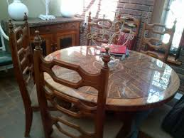 SECOND HAND WOODEN DINING ROOM SUITE FOR SALE