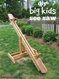 Build Diy Big Kids Seesaw Your Own Backyard For I Used Ana Whites Plans Here And Modified A Heftier