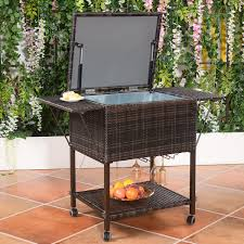 Amazon.com: Wicker Cooler Cart | Outdoor Serving Cart With Wheels ... Patio Cooler Stand Project 2 Patios Cabin And Lakes 11 Best Beverage Coolers For Summer 2017 Reviews Of Large Kruses Workshop Party Table With Built In Beerwine Ice How To Build A Wood Deck Fox Hollow Cottage Diy Your Backyard Wheelbarrow Foil Smoker Outdoor Decorations Beer Wooden Plans Home Decoration 25 Unique Cooler Ideas On Pinterest Diy Chest Man Cave Backyard Our Preppy Lounge Area Thoughtful Place