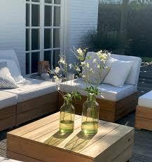 tingo living pacific lounge set 4 sitzer inkl tisch teak natur kissen ecru hochwertig exklusiv