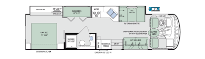 Thor 2017 Hurricane 34J Floor Plan