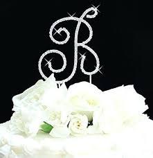 S Monogram Wedding Cake Topper Toppers Cheap Canada Summer Dress