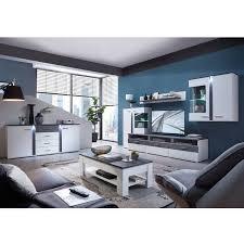 wohnzimmer komplettset mit wohnwand inkl couchtisch sideboard stamf