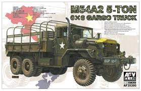 Amazon.com: AFV Club 1/35 M54A2 5-Ton 6X6 Cargo Truck AF35300: Toys ...