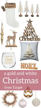 A Brick Home Gold And White Christmas Decor Decorations