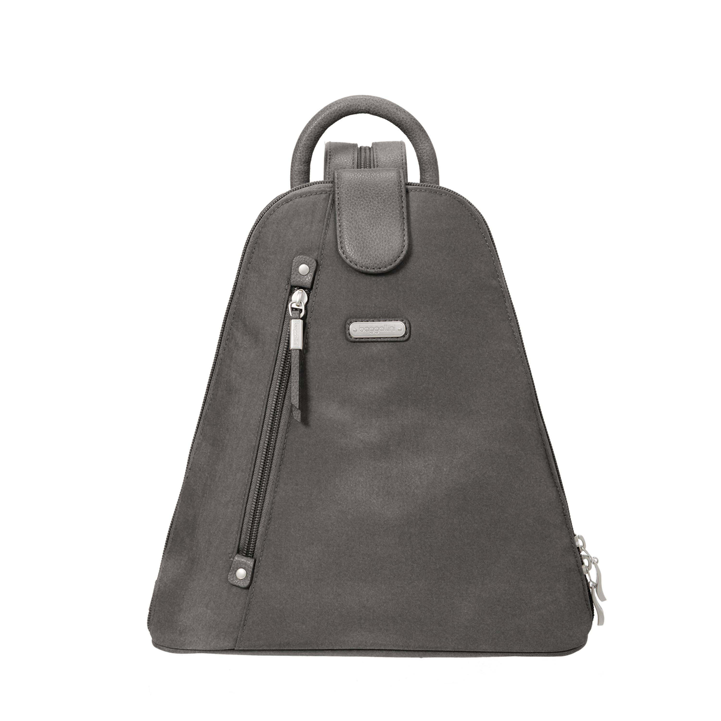 Baggallini Metro Backpack with RFID Phone Wristlet (Sterling Shimmer)
