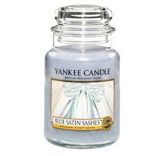 blue satin sashes yankee candle yankee candles
