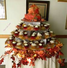 Table Fall Party Style Festival Cupcake Tower Cakes Wedding Dessert