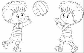 Beautiful Coloring Pages Printable Of Tiger Volleyball Pictures With And Book