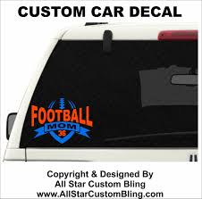 Custom Football Cheer Mom Car Decal, Custom Football Car Decal ... Custom Window Decal For Webpass Vehicle Wraps Decals Vinyl Glass Lettering Signs Nyc Tutorial Create Custom Window Decals Your Business Elk Shape Sticker Buildacrosscom High Quality Stickers Full Color Tpee Car Large Big Etsy Your Business Gate City Graphics How To Remove Vinyl Signs Decals Or Designs From A Car Window Back Trucks Truck New For Ideas At Home Depot Autumn To Deter