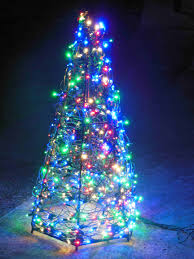 Spiral Lighted Christmas Tree Green Lights by Behind The Scenes Christmas Lights