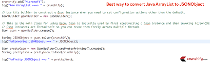 In Java How To Convert ArrayList To JSONObject Crunchify