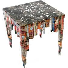 Table made from recycled materials recycled things
