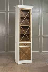 Export To Europe French Rustic Wood Furniture Cross The Narrow Glass Door Bookcase