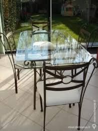 table 4 chaises fer forgé emmanuelle 54437074 meubles déco